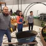 2019 Home and Garden Show - assembling the award winning Horticulture Club display.