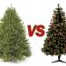 Real vs. artificial Christmas trees
